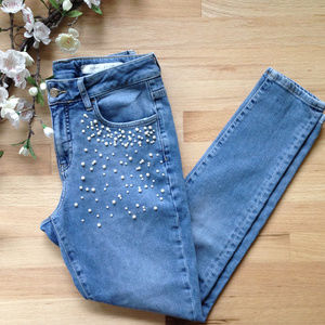 NEW! Anthro Pilcro Embellished Script Skinny Jeans